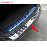 Car sticker Outside Rear Back Bumper Tailgate Pedal Trim Frame Plate External For 2011 2015 Volkswagen Touareg Car styling