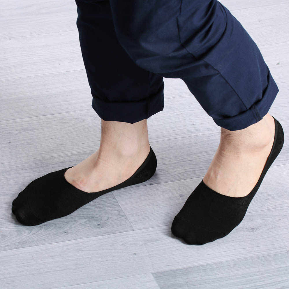 5 Pairs Mens Invisible Nonslip Loafer Boat Ankle Low Cut Soft Sports Socks US
