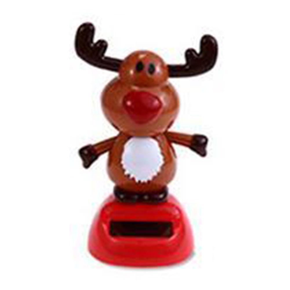 Восхитительная новинка, игрушки на солнечных батареях, движущиеся, рождественские, Санта Клаус, танцующая панда, домашний стол, декор для автомобиля, рождественские игрушки, подарки для детей - Цвет: L