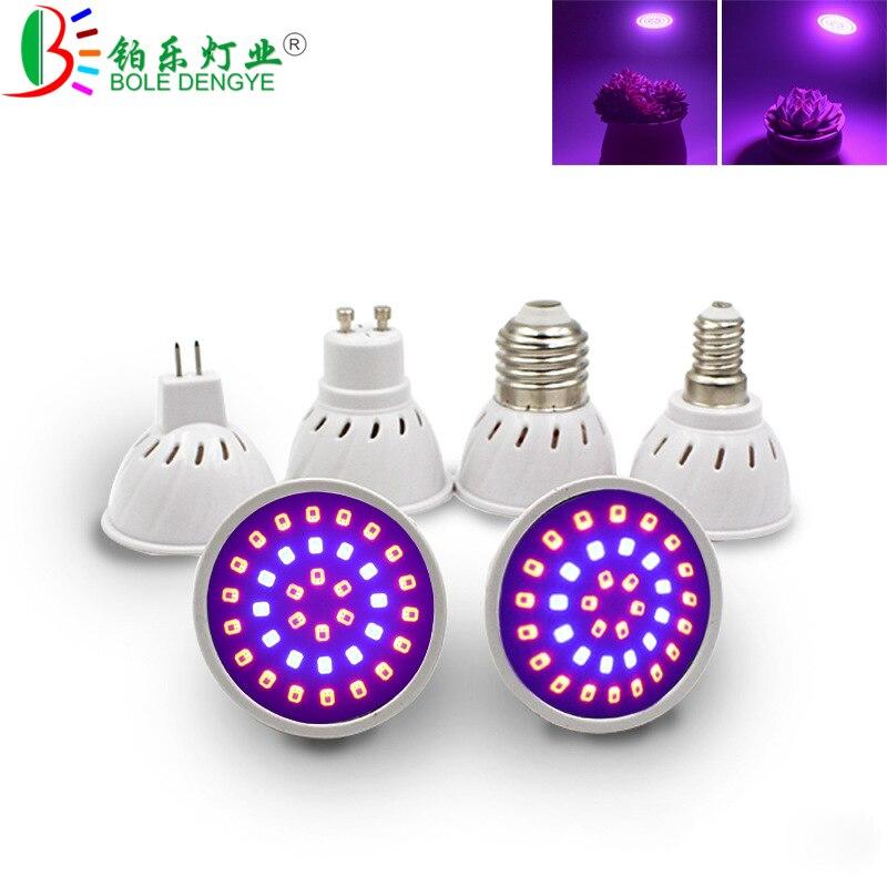 E27/GU10/MR16/E14 110V 220V Phyto Lamp Grow Bulb 36 54 72Leds Full Spectrum LED Grow Light E27 Led Growing Lamps For Plant