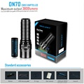 IMALENT DN70 USB recargable CREE XHP70 3800 lúmenes 325 metros linterna LED por batería 26650