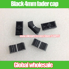 10pcs Black Mixer Dimming table Straight Slip Potentiometer Fader Knob Cap / Push Button Cap 4mm Hole / Fader Cap black 4mm(China)