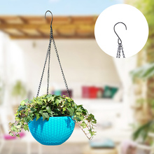 5 шт. цветочный горшок подвесная корзина цветочный горшок 3 точки садовая вешалка для растений с крючками