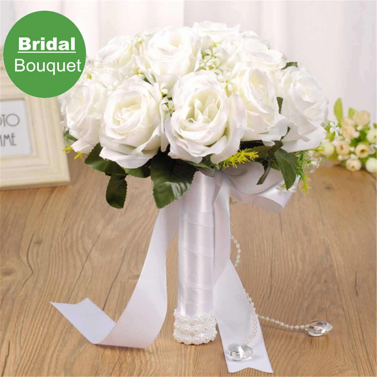 Artificial Handmade Bridal Bouquet Ribbon Flowers Bunch Marriage Engagement Party Supplies Home Ornaments Wedding Decoration