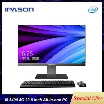 IPASON все в одном компьютере 23,8 дюймов офисный Рабочий стол/9th Gen i5-9400 8G ram 480 GSSD/WiFi/беспроводная мышь и клавиатура/деловой ПК