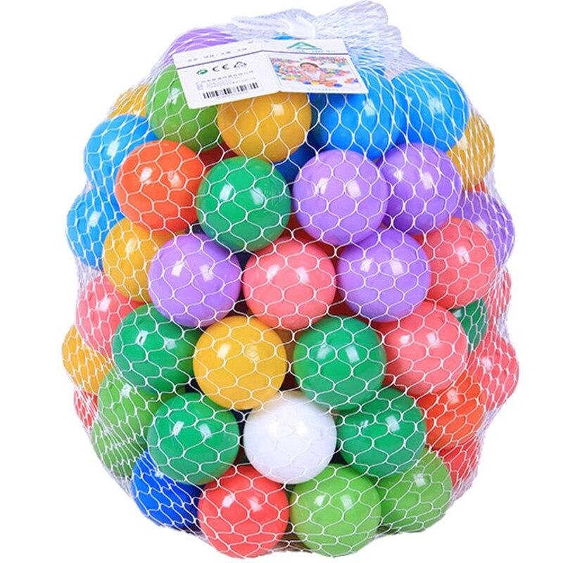 50 pcs Coloré piscine d'eau enfants jouet tente océan boule de vague en plein air jouer en plastique ball pour enfant drôle de bain jouet de bain pit sport balle