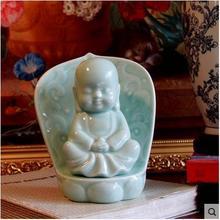 ceramic buddha statue figurine home decor crafts room decoration kawaii ornament porcelain figurines