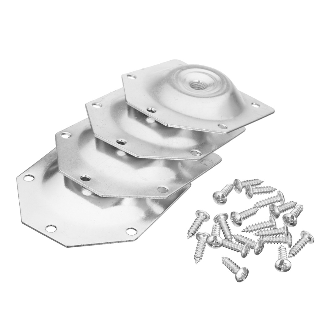 4Pcs 6 Angled Slope Table Feet Fixing Sofa Legs M8 Mounting Bracket Set With Screws For Household Hardware Tool
