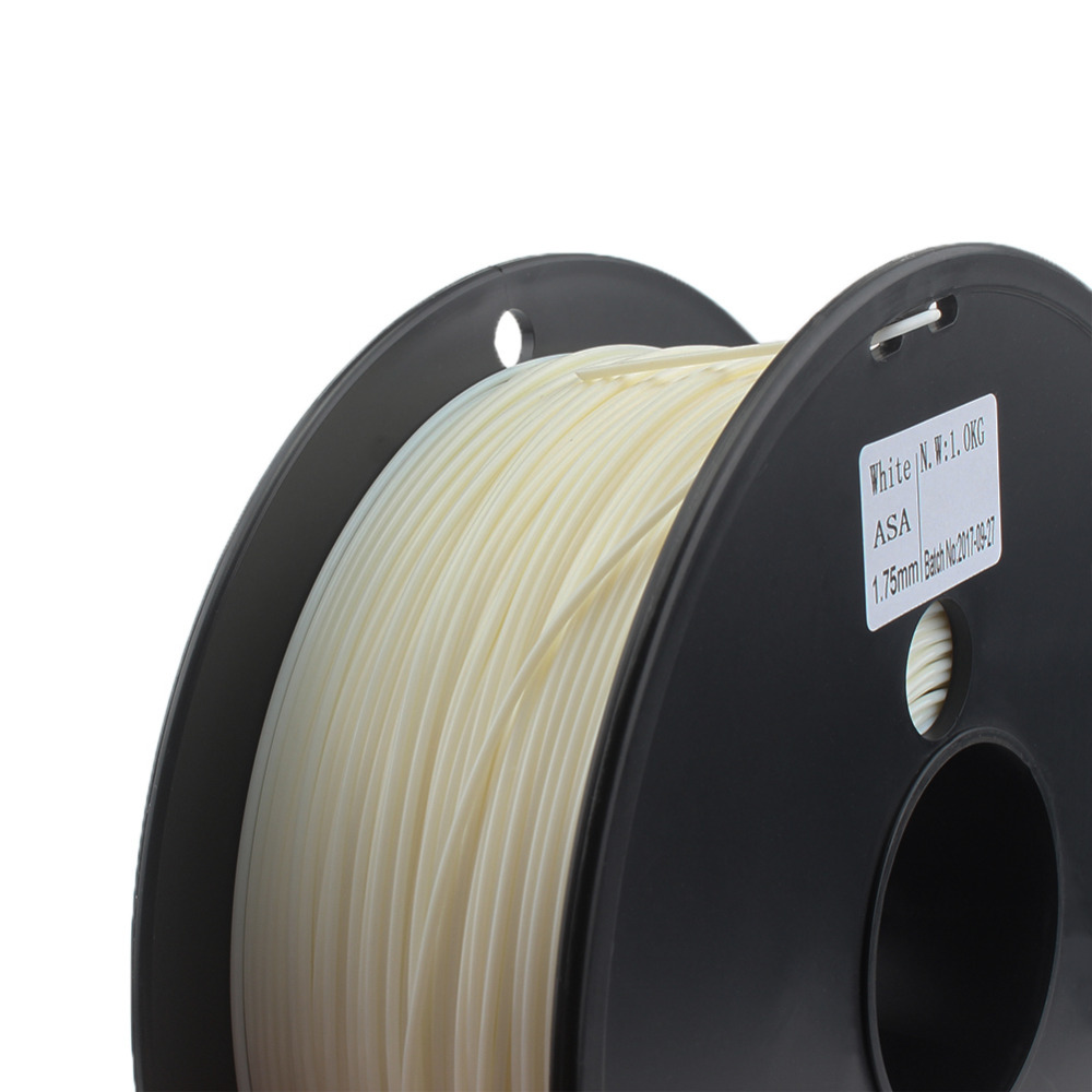ASA Filament Water/UV Resistant 3D Printer Filament Higher Rigidity Than ABS White Color PVB TPU TPE PVA PA PETG HIPS high quality pinrui 3d hips filament 1 75mm 1kg 3d printer filament 1 kg hips 3d plastic filament low cost less odor than abs