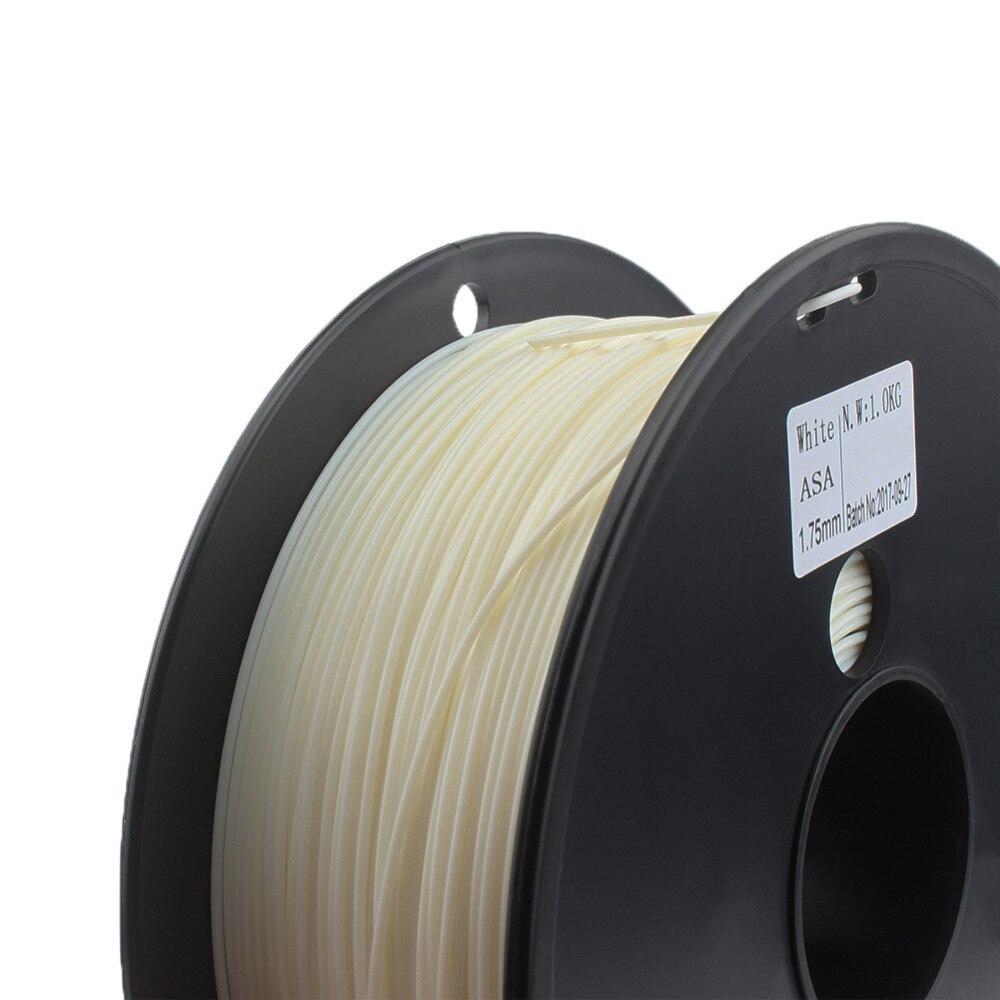 Filamento ASA agua/UV resistente 3D filamento impresora mayor rigidez que ABS Color blanco PVB TPU TPE PVA PA PETG caderas