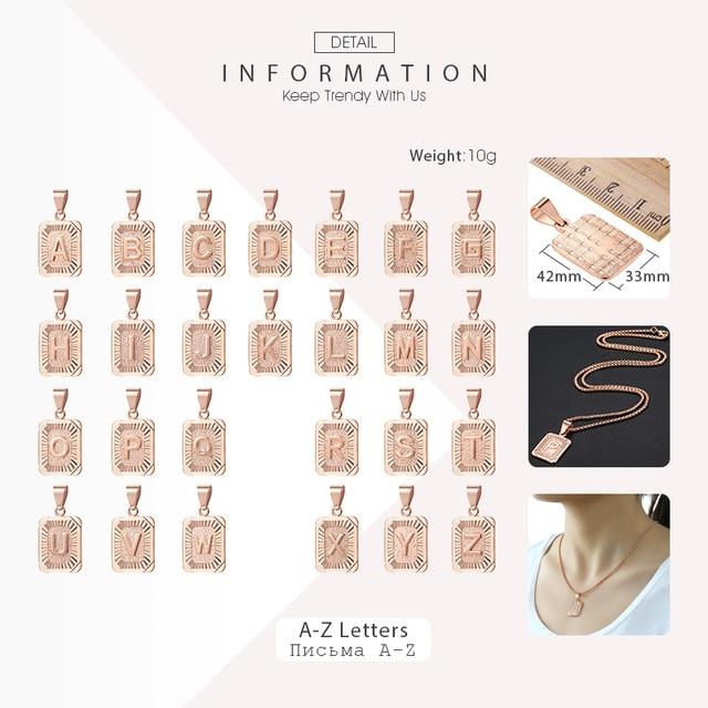 Trendsmax A-Z 26 Lettere Pendenti con gemme e perle 585 In Oro Rosa Argento Colore Pendenti con gemme e perle Per Le Donne Degli Uomini Ragazze 2018 Gioelleria raffinata e alla moda Regali KGPM12