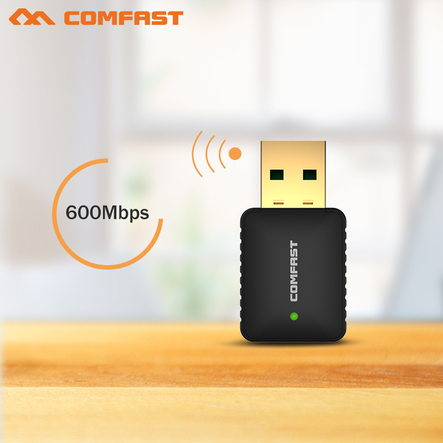10pcs COMFAST Wi-fi Network LAN Card 802.11ac 2.4G+5.8G WiFi Adapter Dongle Ultra-fast AC 600Mbps USB wi fi Wireless Adaptor