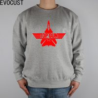 Topgun top gun test combat vliegtuigen logo mannen Sweatshirts Dikke Gekamd Katoen