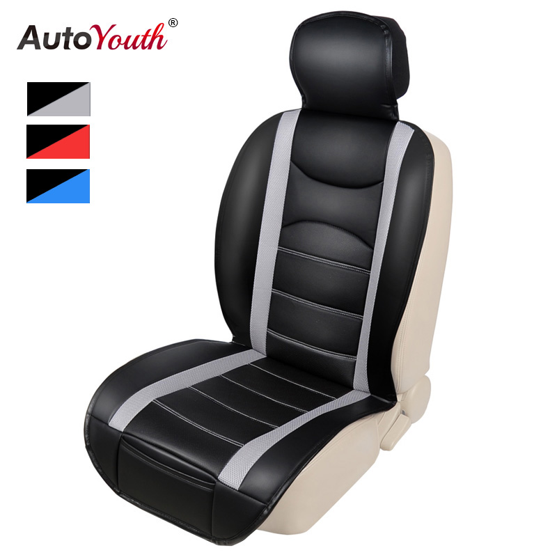 AUTOYOUTH PU Leather Luxury Car Seat Cushion Universal Fit Most Car SUV Interior Accessories Car Seat Covers 1PCS 3 Colored seat covers universal car seat cover autoyouth fit most interior accessories vehicle seat covers red color car styling