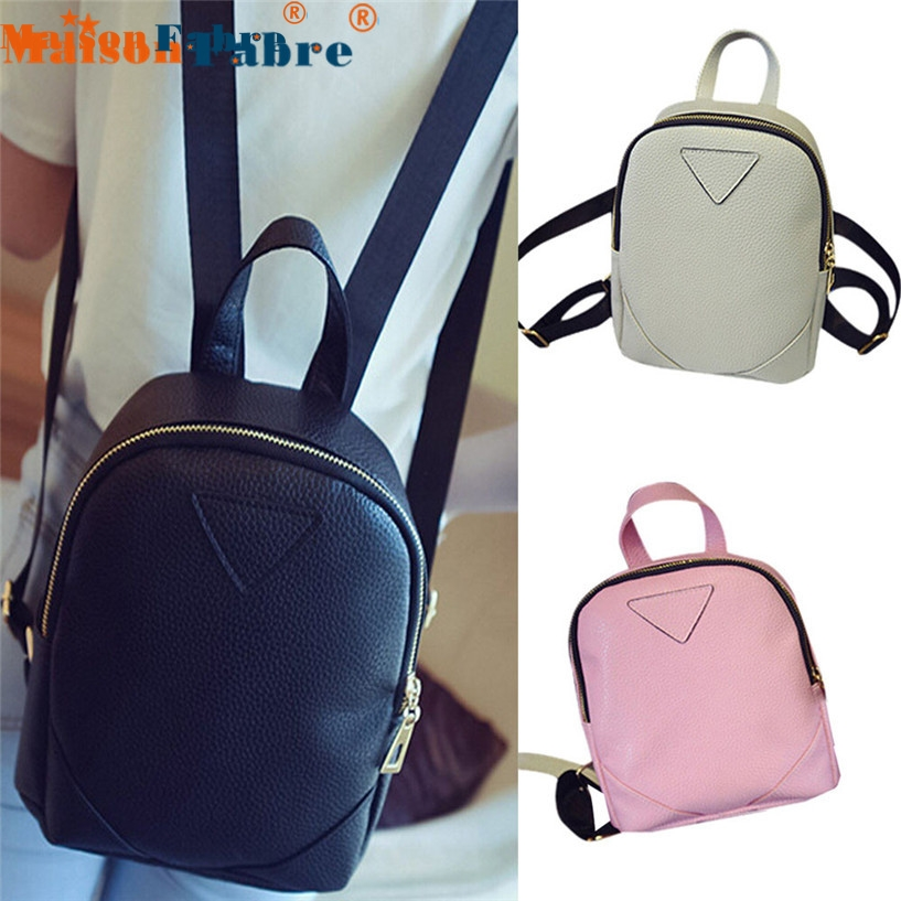 Women's Backpack Travel leather backpack Leather Rucksack Shoulder School Bag bolsos mujer tote bag drop shipping