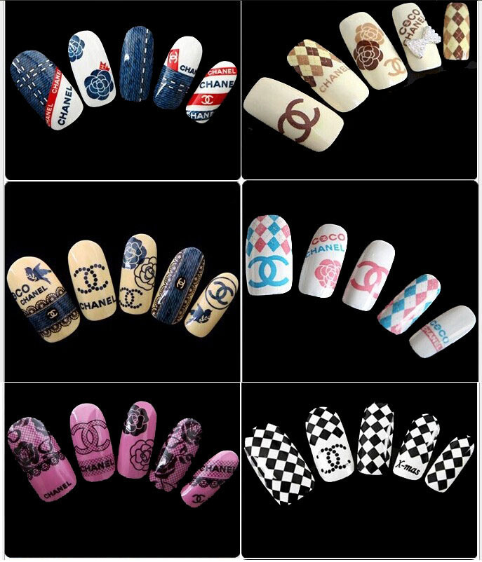12pcslot Sex Nail Art Sticker Flower Water Tranfer Sticker Nails