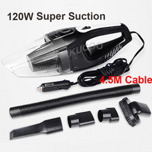Accesorios de automóviles Portátil 120 W 12 V de Vacío Del Coche Limpiador de Mano Mini súper Succión Húmeda Y Seca de Doble Uso Aspiradora Para la coche