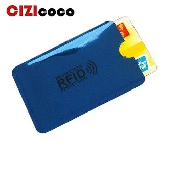 5 pcs New Anti Rfid Wallet Blocking Reader Lock Bank Card Holder ID Bank Card Case Business Protection Metal Credit Aluminium 1