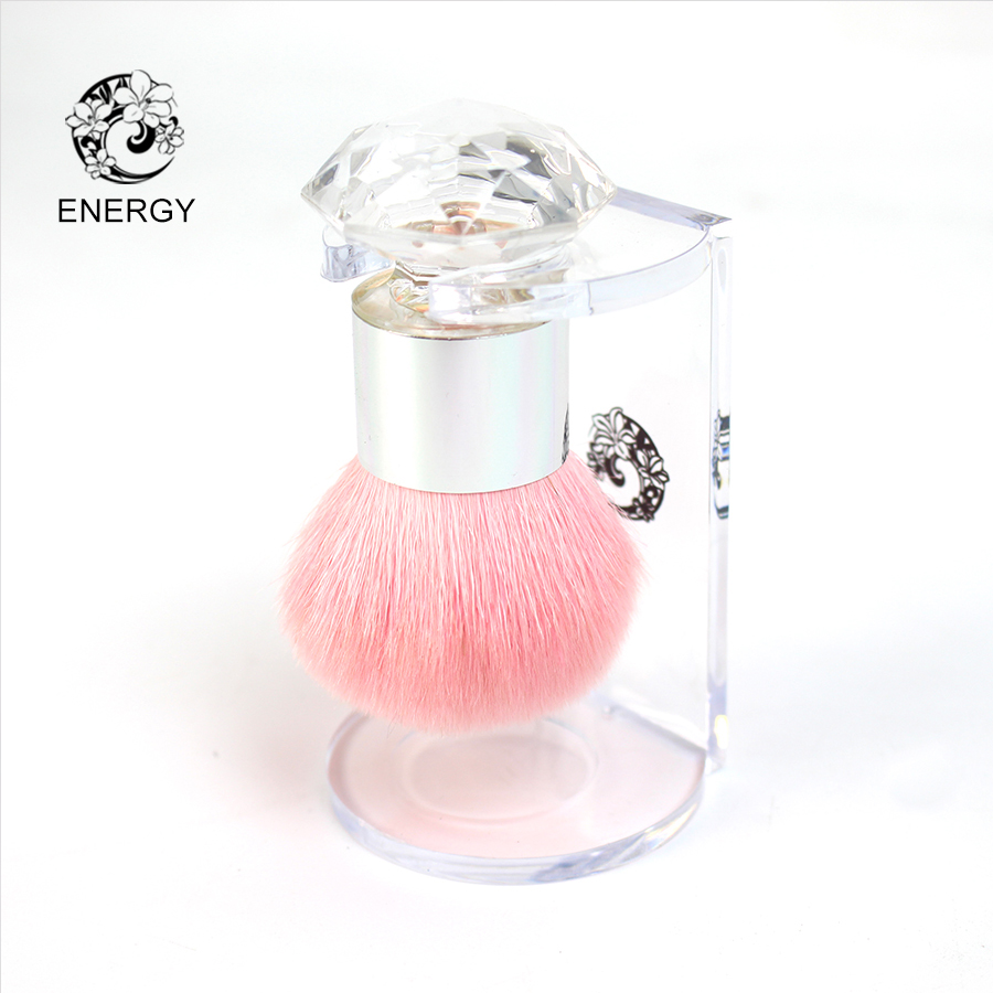 ENERGY Brand Professional Pink Goat Hair Kabuki Powder Brush Make Up Makeup Brushes Brochas Maquillaje Pinceaux
