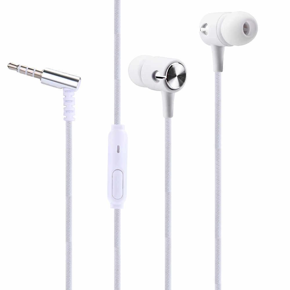 3.5 مللي متر العالمي في الأذن ستيريو ياربود سماعة سماعة رأس مزودة بميكروفون ل هاتف محمول PC O.31