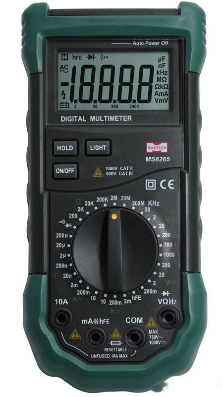 NEW MS8260G Digital Multimeter DMM AC / DC / Resistance / nF / uF / Hz / Temperature