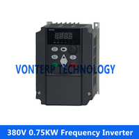 380V 0.75KW 3 Phase Industrial Variable Frequency Drive Vfd Inverter Ac Drive