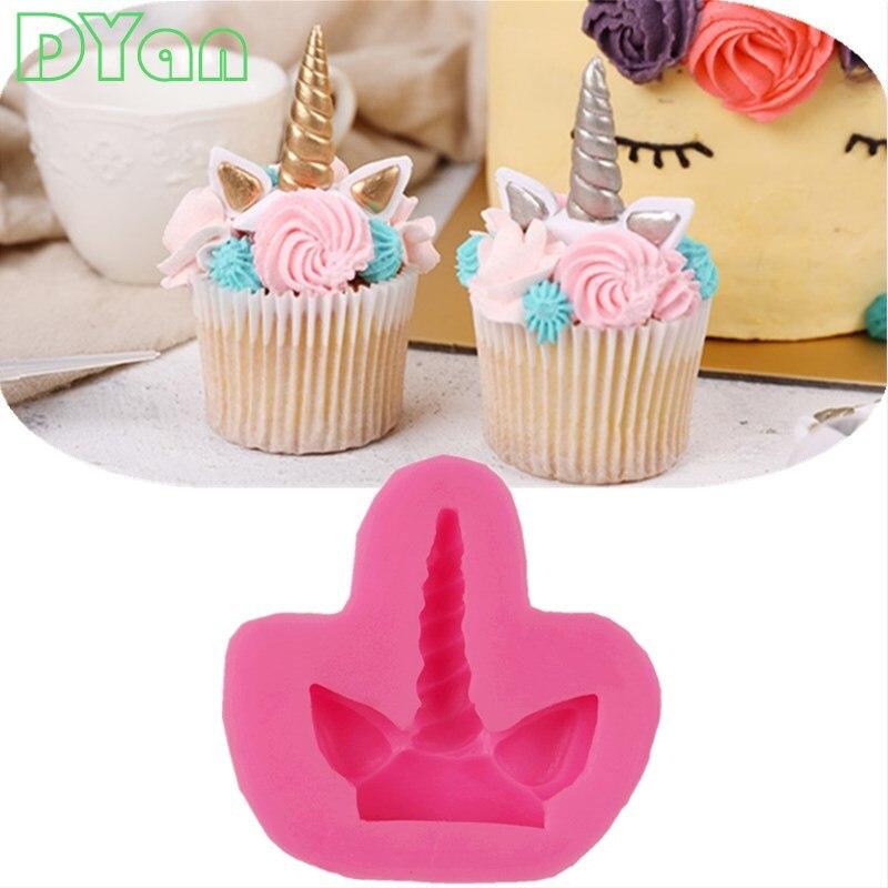 Cake Tool 1 Pc Unicorn Horse Ear Silicone Mold Sugarcraft Chocolate Fondant Tool Sugarcraft Mould A1732