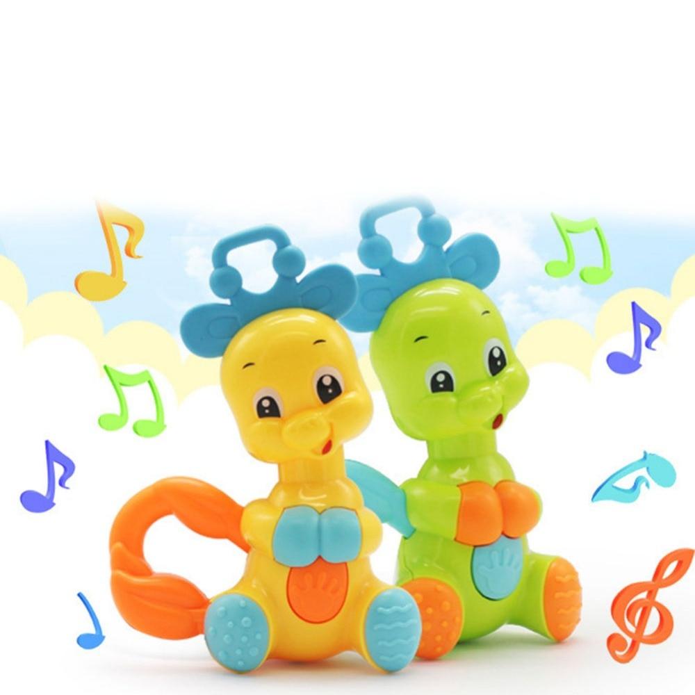 Children Animal Elephant Rattles Plastic Hand Jingle Shaking Bell  Toddler Educational Musical Kids Baby Toys For Kids