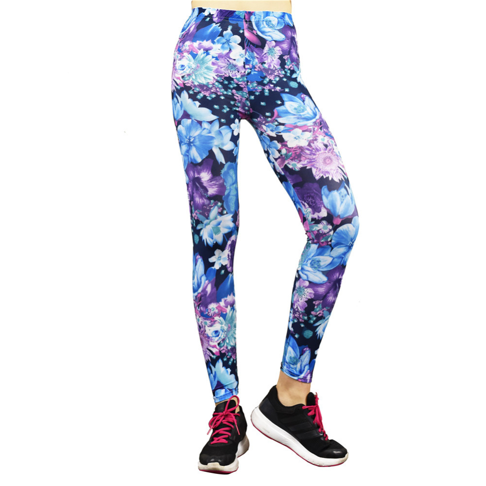 2017 Cool Floral Leggings Pattern Legging Sports Gym