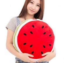 New Arrival Fashion Soft Fruit Plush Watermelon Cushion Pillows Creative Toys For Kid s Birthday Gift