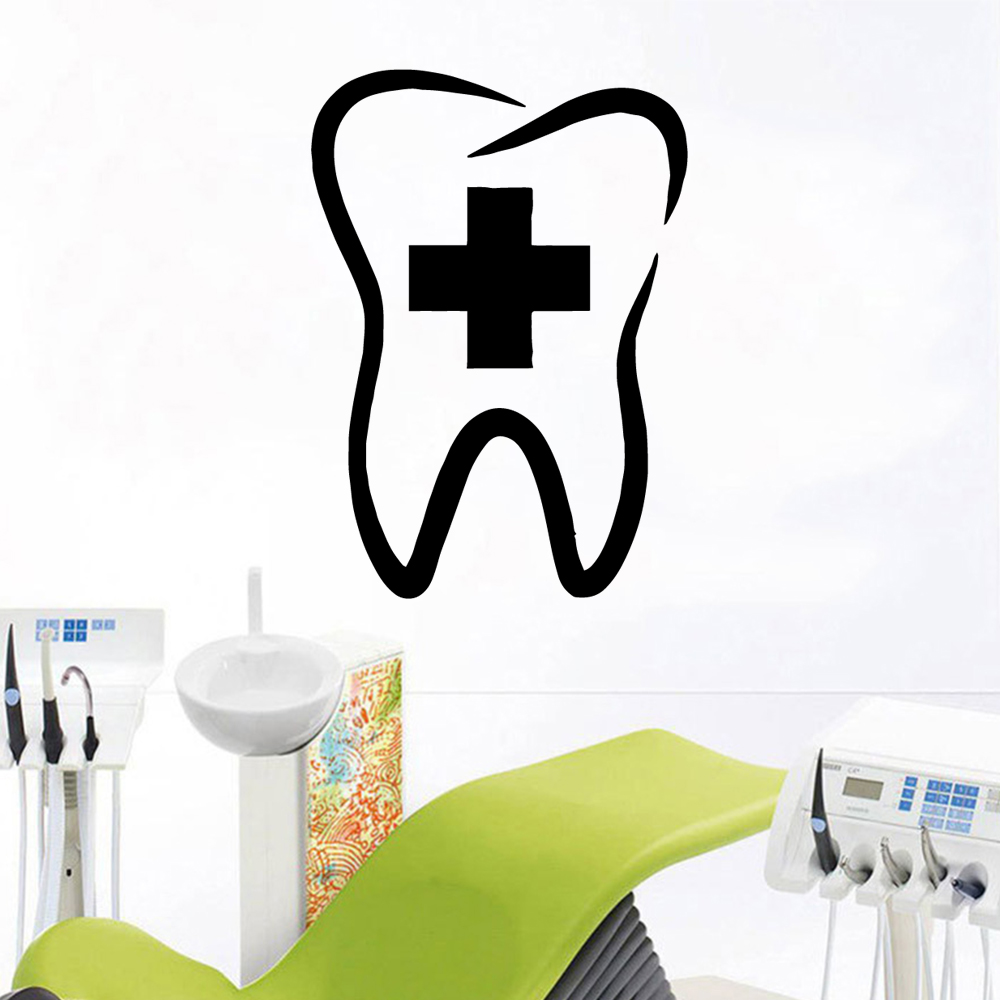 Cute tooth Sticker Waterproof Vinyl Wallpaper Home Decor For Baby 39 s Rooms Home Party Decor Wallpaper in Wall Stickers from Home amp Garden