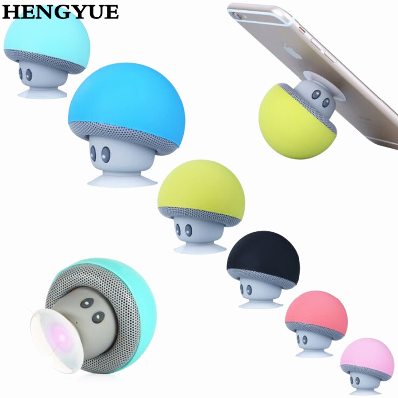 20PCS DHL Portable Mini Mushroom Wireless Bluetooth Speaker Waterproof Shower Stereo Subwoofer Music Player For iPhone