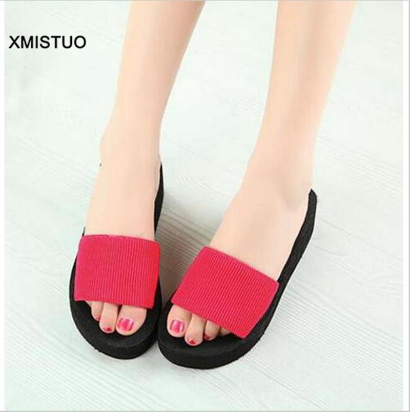 Xmistuo summer house slippers woman fashion 3 colors for Minimalist house slippers