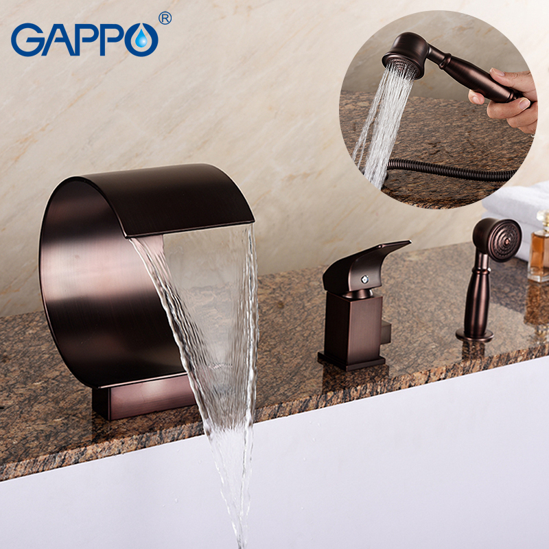 GAPPO bathtub faucet Basin mixer faucet waterfall bathroom faucet deck mounted mixer taps bath tub rainfall faucets