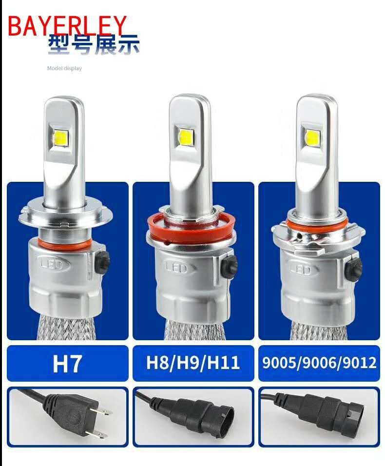 2 pièces H7 LED H1 H4 H11 Voiture Phare Ampoule R3 9600lm avec Lentille Mini H3 HB4 H8 HB3 9005 9006 LED Antibrouillard 6000K Blanc lumières de voiture