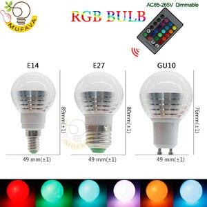 Image 2 - E27 E14 หลอด LED RGB 16 สี Magic LED Night Light 85 265V หลอดไฟ LED หรี่แสงได้ STAGE LIGHT/24key รีโมทคอนโทรล Holiday ไฟ