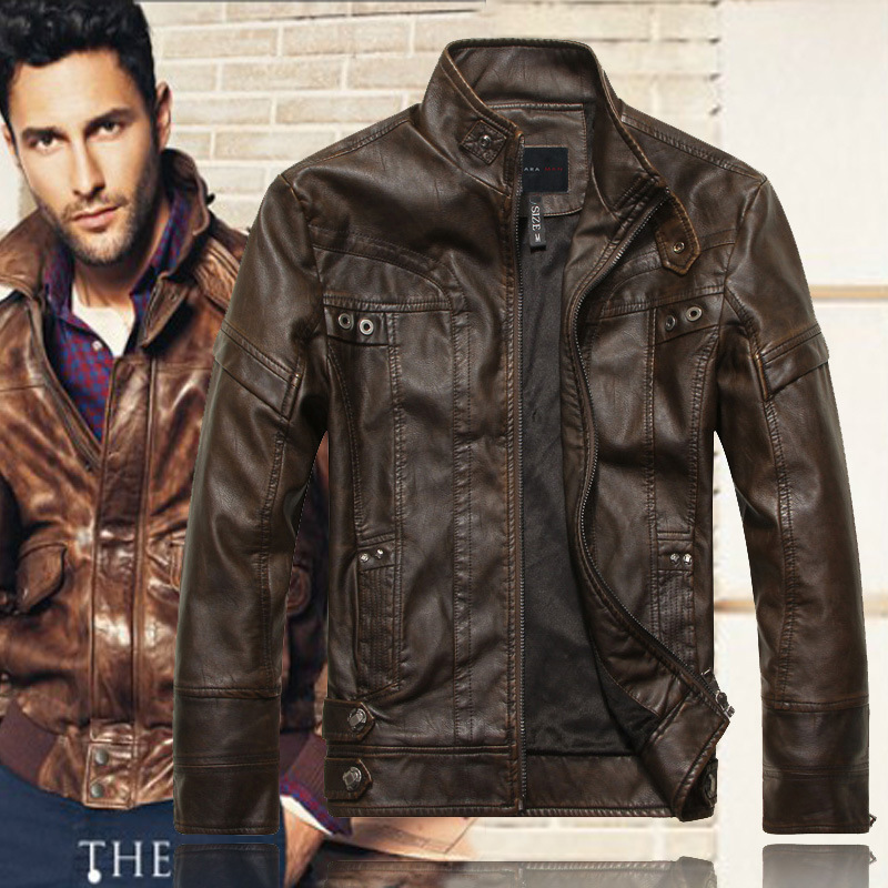 dropshipping  Men jaqueta de couro masculina  men's cosplay motorcycle leather party costume coat NEW top quality Leather Jacket