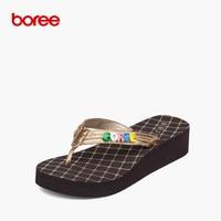 Boree Summer Women S Sandals Fashion Flip Flops Casual Shoes Soft Upper Serpentine Non Slip Thick
