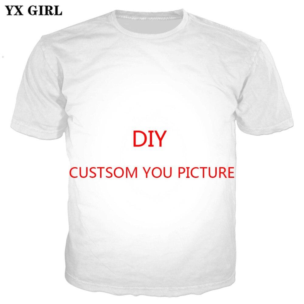 466a059352850 YX Personalizado MENINA 3D Todo Impresso T Camisas Verão Rua estilo Hip Hop  Roupas de Manga Curta Encabeça Tee Mulheres Homens Dropshiping