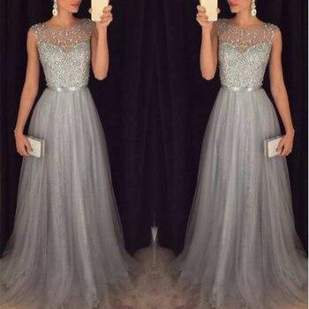 Patchwork Evening Party Sleeveless O Neck Long Belt Slim Elegant Dress
