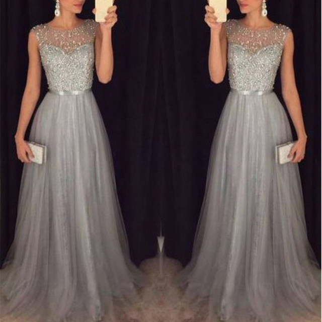 Fashion Sequin Patchwork Dress 2019 Evening Party Sleeveless O Neck Long  Belt Slim Elegant Dress Women f2465513e489