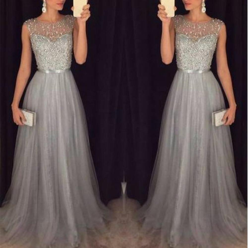 Moda vestido de retazos de lentejuelas 2018 de fiesta de noche sin mangas cuello redondo cinturón largo Delgado elegante vestido de mujer Maxi Vestidos sukienki