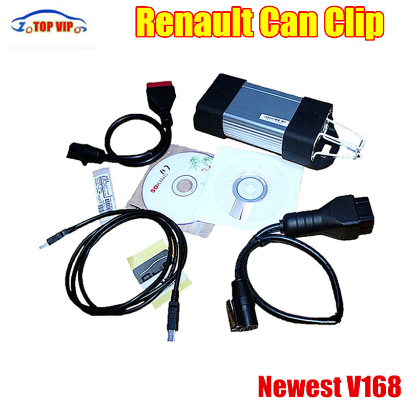 5PCS Rreasonable Price Newest Renault Can ClipV168 OBD2 Auto Car Scanner Sustain Multi-Languages Auto Scanner Renault 5 5 car obd2 ii