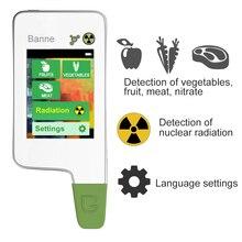 Tela de Toque Digital Detector de Radiação, Portátil Testador De Alimentos, nitrato e alimentos Tester & Termômetro PARA CHURRASCO, termômetro digital LEVADO