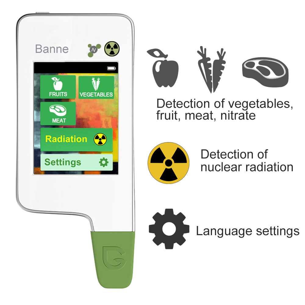 Digital Touch Screen Radiation Detector,Portable Food Tester, Nitrate and food Tester & BBQ Thermometer,LED digital thermometer