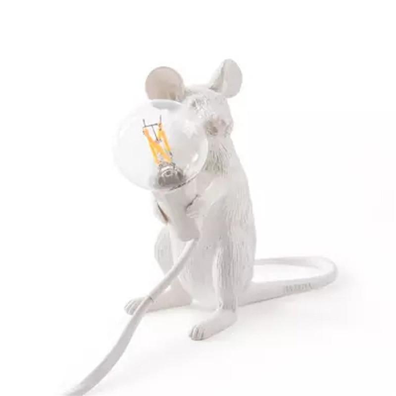 Nordic Italian Resin Rat Table Lamp Bedroom Bedside Mouse Lamp Wedding Deco Table Light Kids Gifts Anima LsItalian Lamps Table