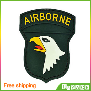 101st Airborne Division (green) Military PVC Rubber Velcro patches  personality Velcro for Clothes Jackets Backpacks Hats d1564e74512