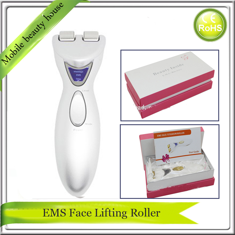 LCD Display Bio Wave EMS Microcurrent Face Shaping Fat Wrinkle Remover Titanium Face Neck Roller Beauty Slimming Massager lc171w03 b4k1 lcd display screens