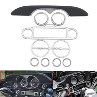 Inner Faceplate Accent Fairing Trim Dash Stereo Ring Fits For Harley Touring 86 13