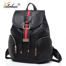 Valenkuci новый 2017 женщины рюкзак моды женщин кожаные рюкзаки девушки школьные сумки сумки на ремне рюкзаки женский BD-196